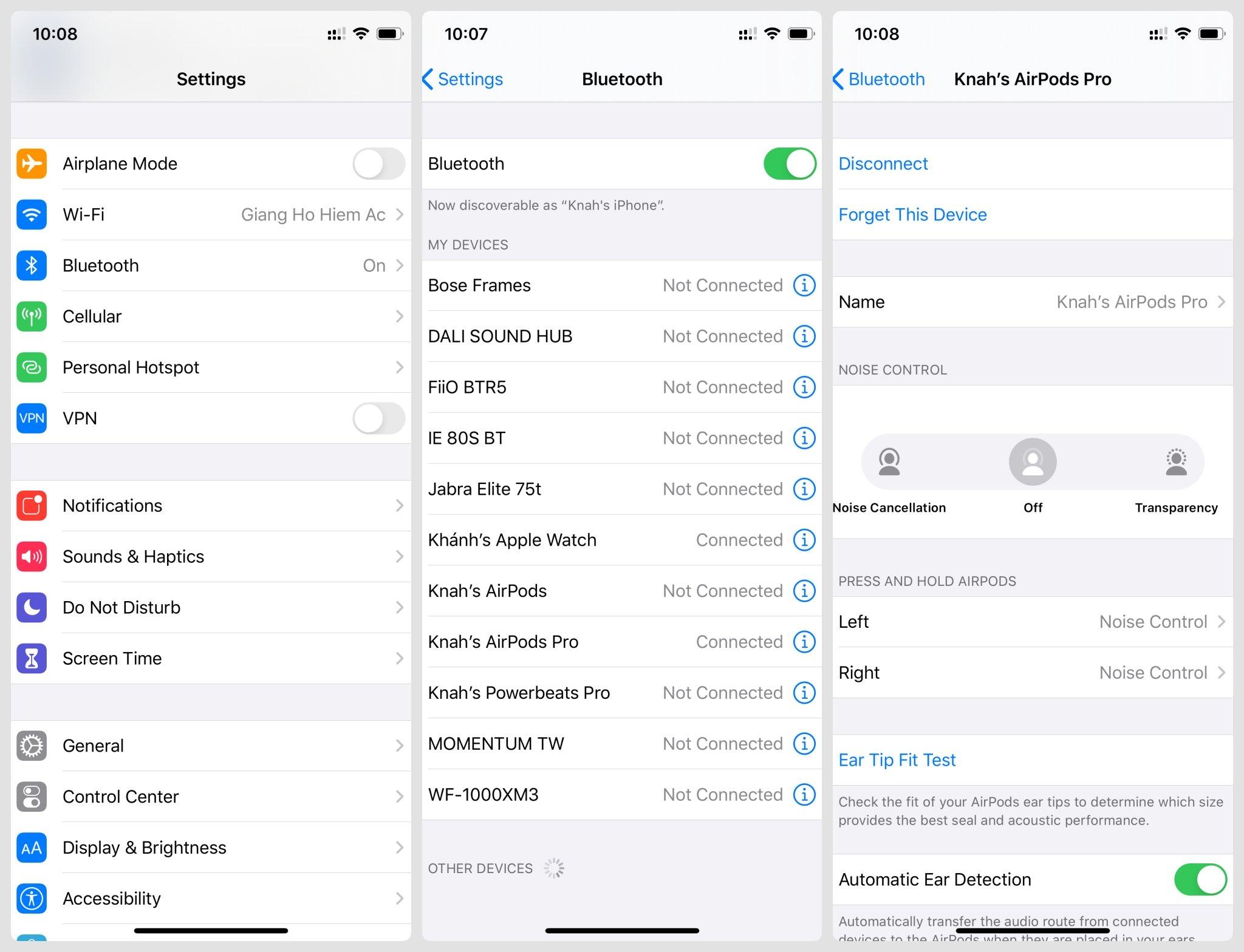 Hướng dẫn khắc phục lỗi tai nghe Apple Airpods 1/2/Pro không nghe được âm thanh dù đã kết nối với điện thoại