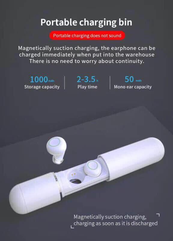Tai nghe Bluetooth kèm sạc Dự phòng S10 cao cấp