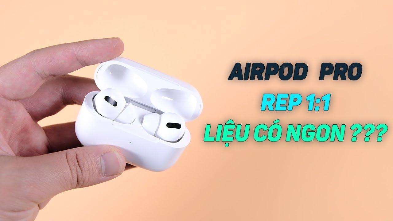 Tai Nghe Apple Airpods Pro REP 1:1 hỗ trợ sạc không dây