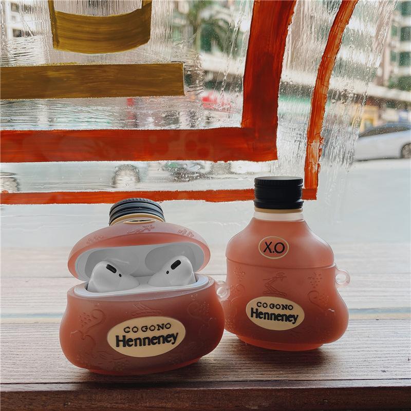 Case Airpods - Ốp Airpods 1/2/3 ( Pro ) - Hình Chai Rượu