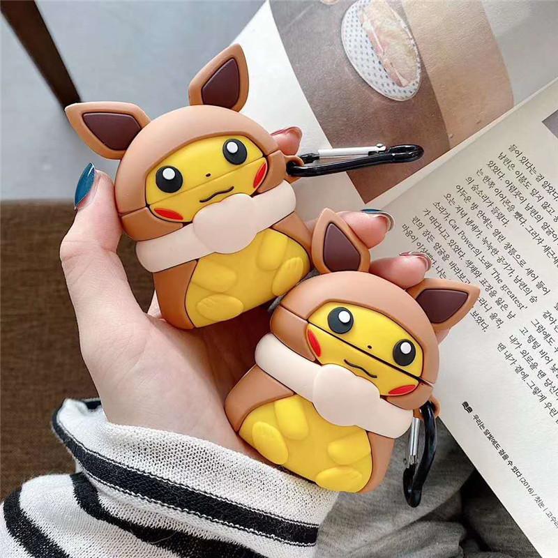 Case Airpods - Ốp Airpods - Pikachu áo choàng