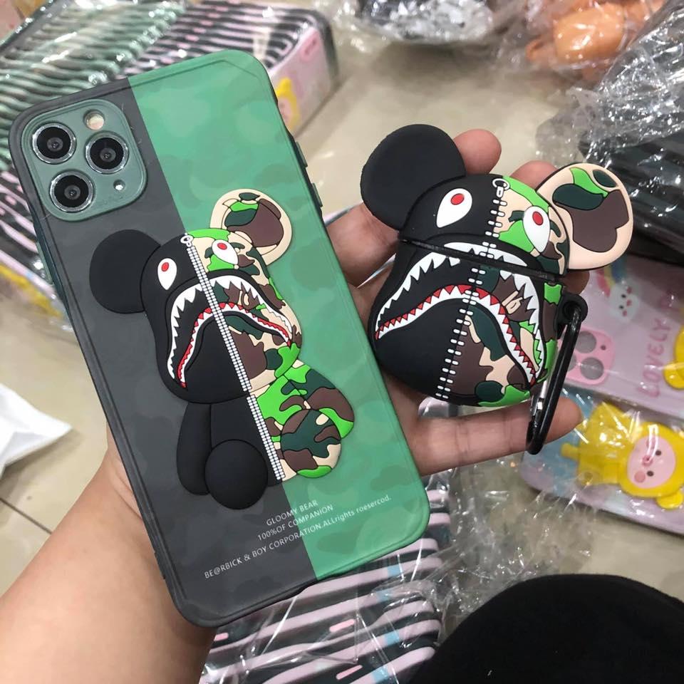 Combo ốp lưng iPhone Case Airpods Bape